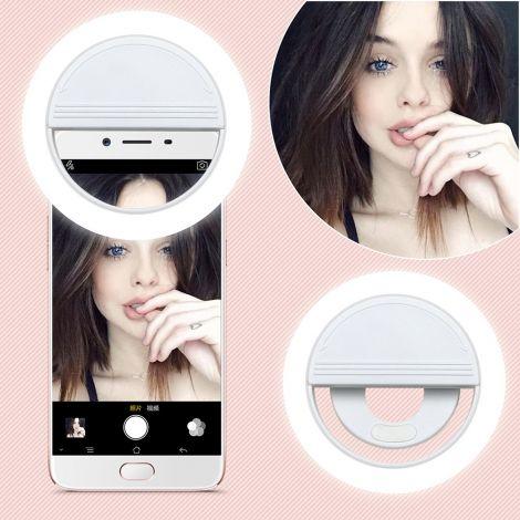 Universal Smartphone Selfie LED-Licht - Weiss
