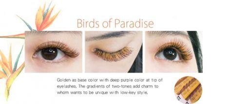Farbwimpern luxury Flora-Eyeshadow Gold+Lila