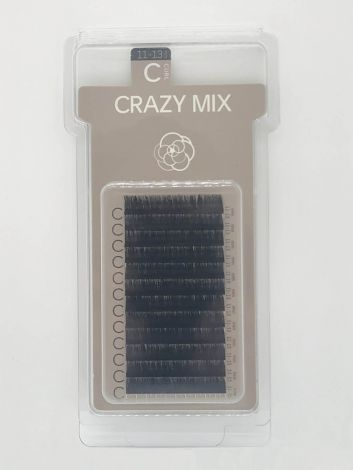 Crazy Mix (C-CURL / 11-13 mm) schwarz