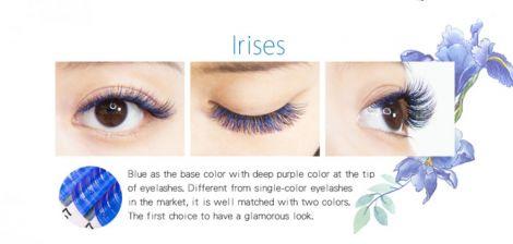 Farbwimpern luxury Flora-Eyeshadow Blau+Lila