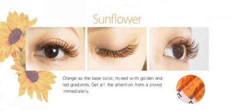 Farbwimpern luxury Flora-Eyeshadow Orange + Rot